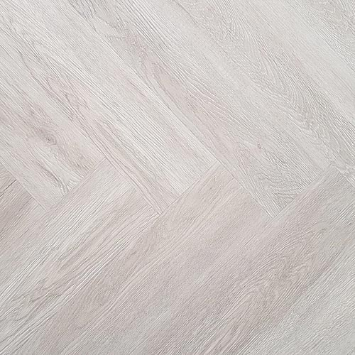 Graaggebracht Visgraat plak PVC – Eiken wit