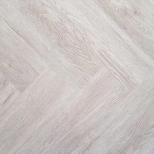 Visgraat PVC - Eiken gerookt wit - Laminaat tot visgraat nl Graaggebracht