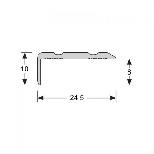 Hoekprofiel 10mm edelstaal