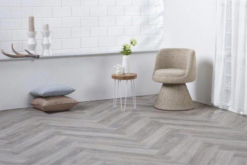 Ambiant Spigato Visgraat PVC vloer - 2533 - light grey - 4