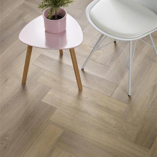 Ambiant Spigato Visgraat PVC vloer – 3503 – Naturel [Dryback PVC] – INCLUSIEF EGALISEREN EN LEGGEN