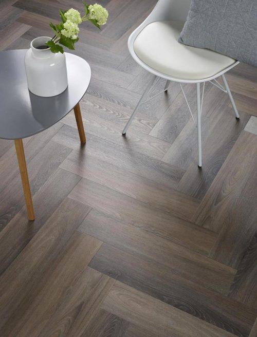 Ambiant Spigato Visgraat PVC vloer - 3506 - Dark Grey - 5
